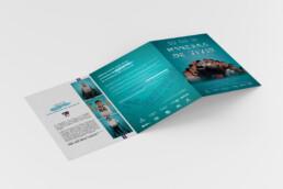 Programa de mano del documental Maneras de Vivir Levante UD diseñado por Comecocos Estudio Creativo, en Valencia