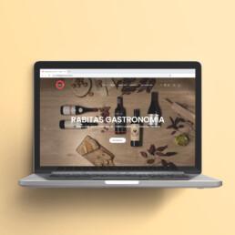 Web y tienda online de Rabitas Gastronomía, por Comecocos Estudio